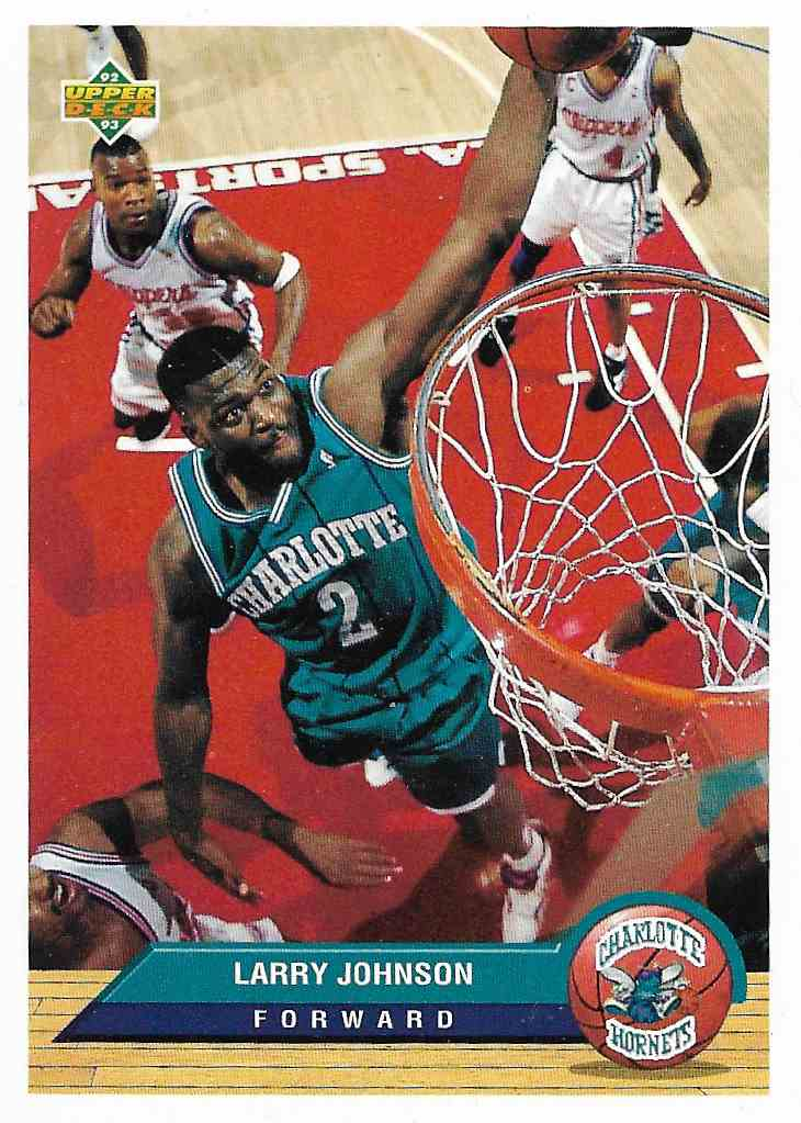 1993-94 Upper Deck McDonald Larry Johnson #P4 card front image
