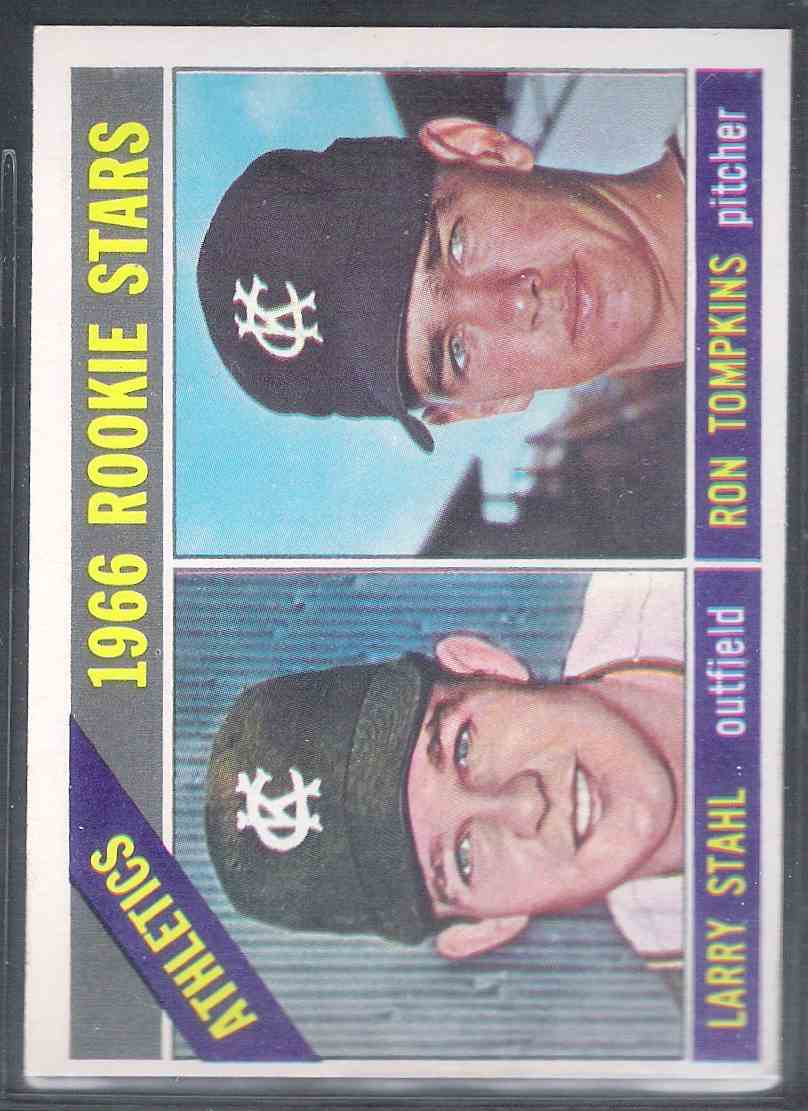 1966 Topps Larry Stahl Ron Tompkins Nm #107 card front image