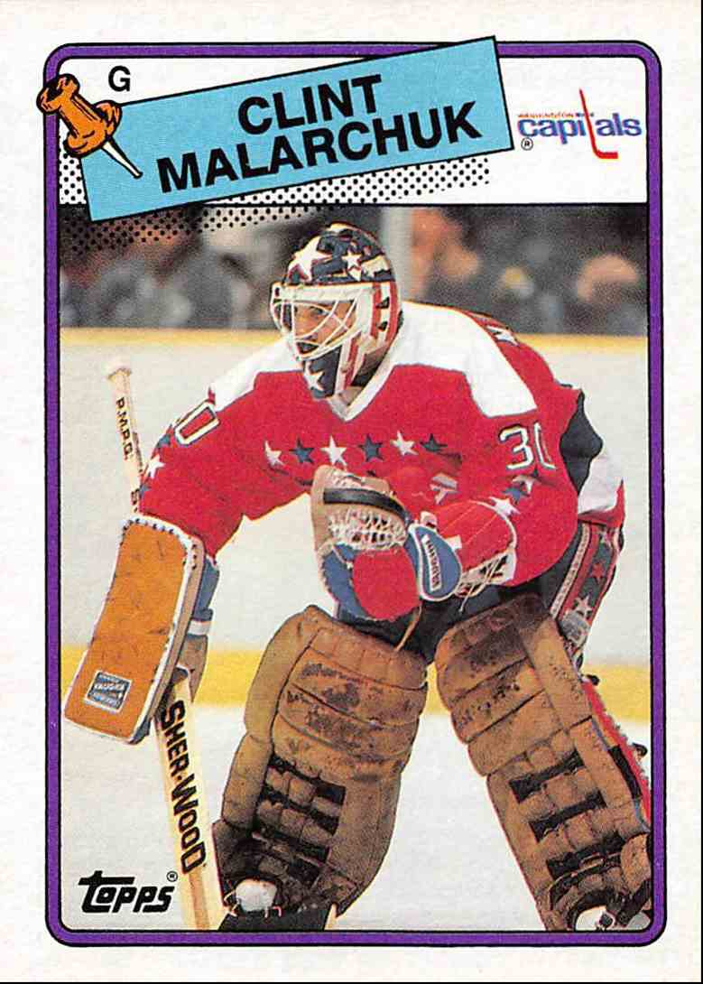1988 89 Topps Clint Malarchuk 25 On Kronozio