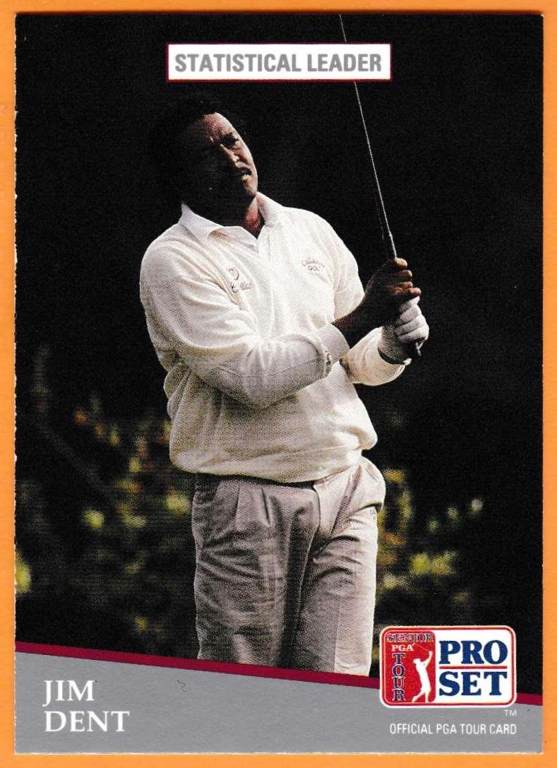 1990 Pro Set Golf 1990 PGA Tour Jim Dent #279 card front image