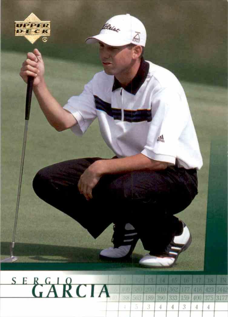 2001 Upper Deck Sergio Garcia RC #3 card front image