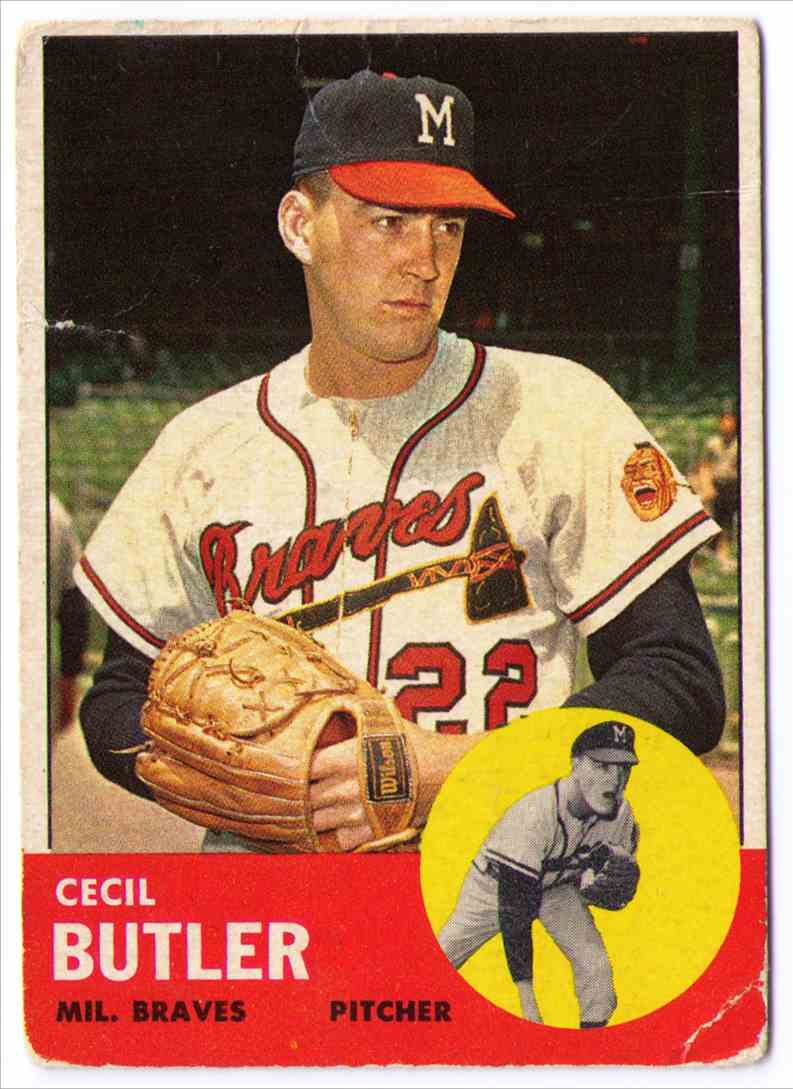1963 Topps Cecil Butler #201 card front image
