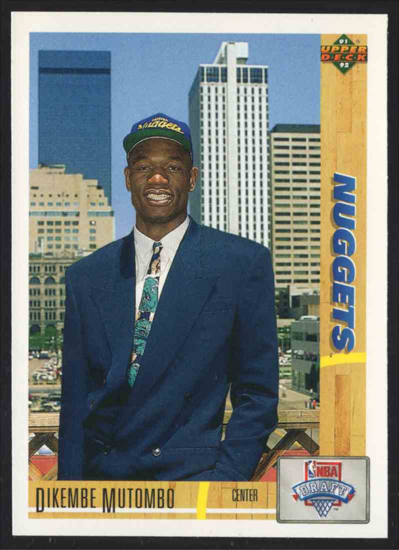 1991-92 Upper Deck Dikembe Mutombo #3 card front image