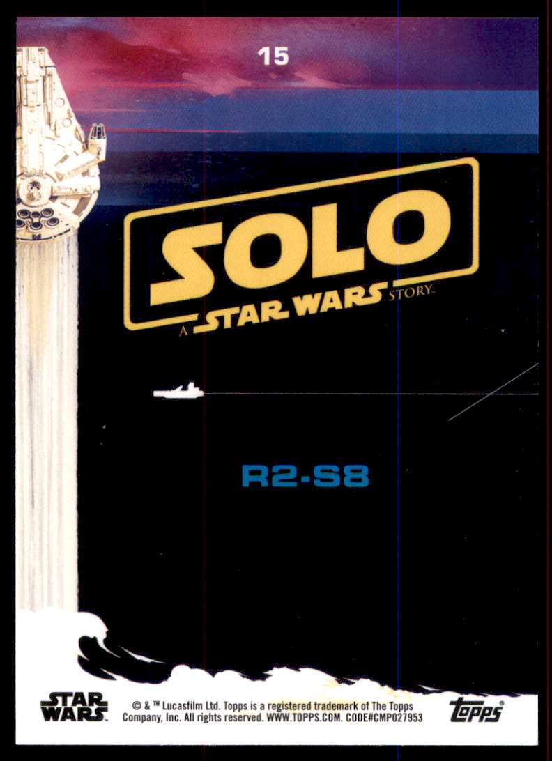 2018 Solo A Star Wars Story Black R2-S8 #15 card back image