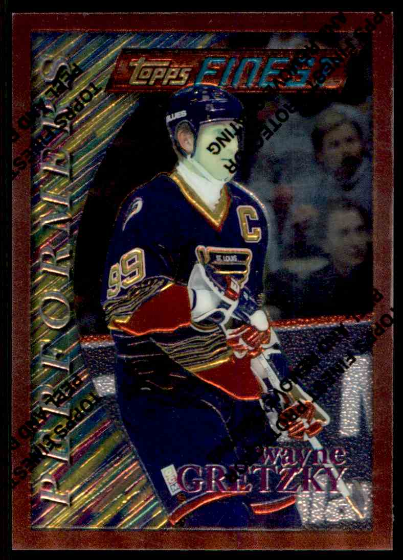 1995-96 Topps Finest Wayne Gretzky #5 card front image