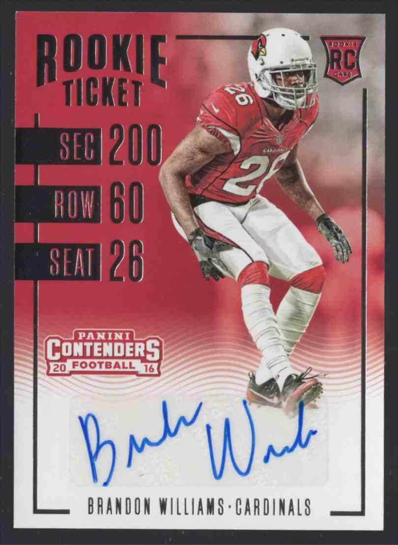 2016 Panini Contenders Brandon Williams #225 card front image