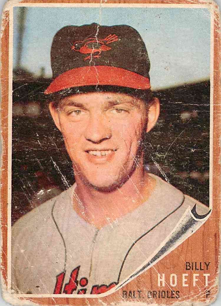 1962 Topps Billy Hoeft 134 Card Front Image