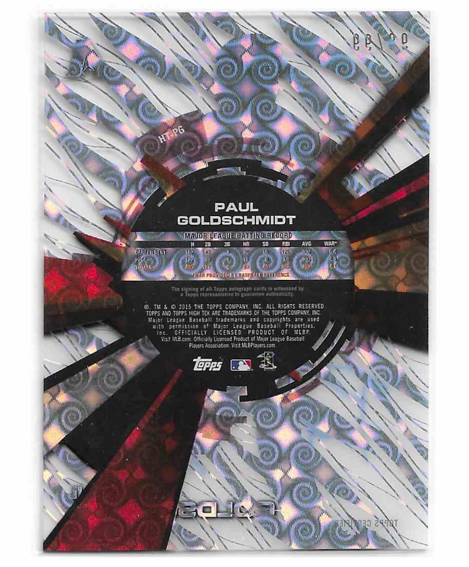 2015 Topps High Tek Paul Goldschmidt #HT-PG card back image