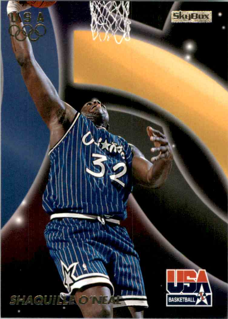 1996-97 SkyBox USA Shaquille O'Neal #17 card front image