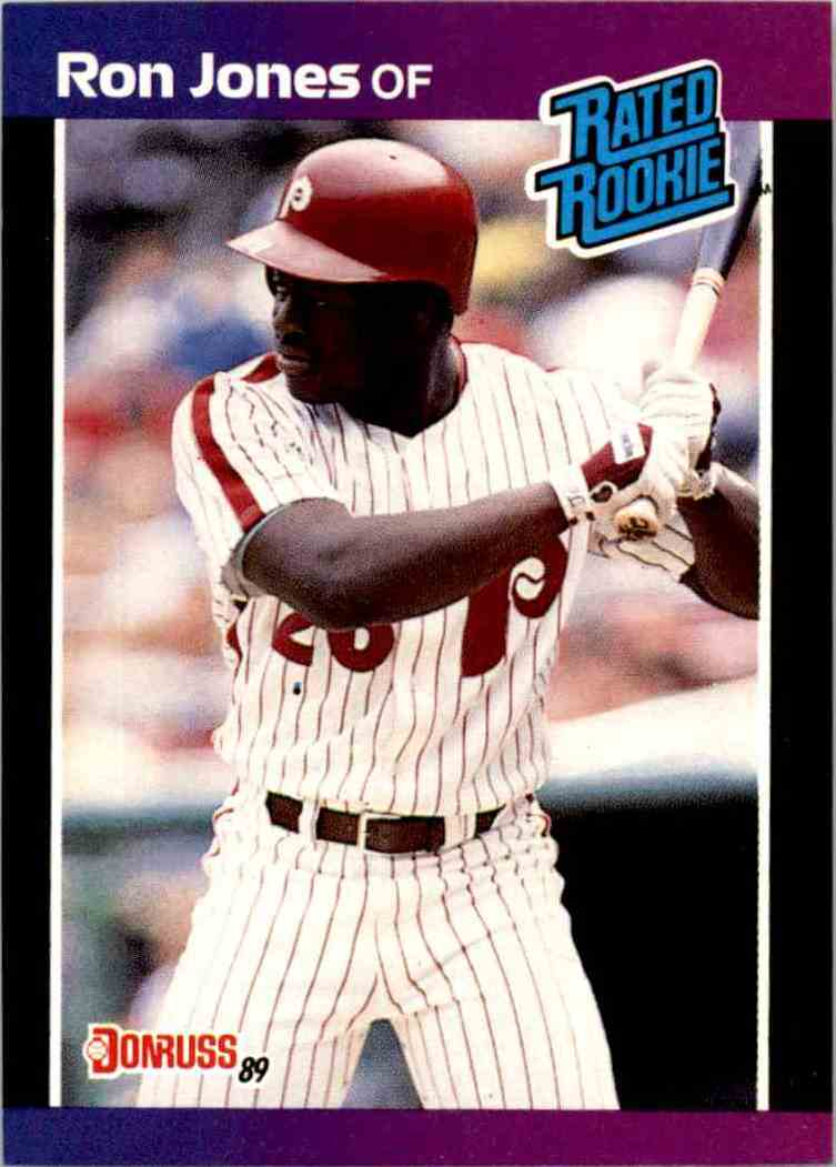 1989 Donruss Rated Rookie Ron James #40 card front image