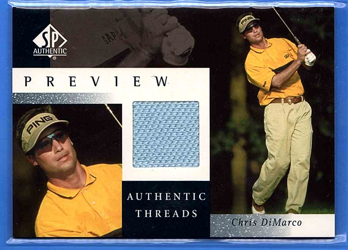 2001 SP Authentic Preview Authentic Threads Chris DiMarco #CD-AT card front image
