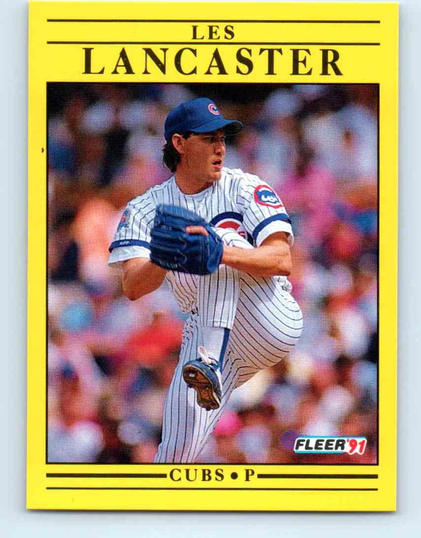 1991 Fleer Baseball Les Lancaster 424 On Kronozio