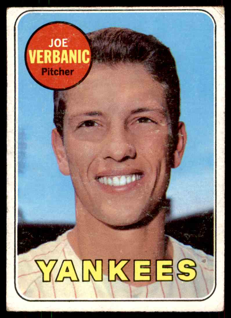 1969 Topps Joe Verbanic #541 card front image