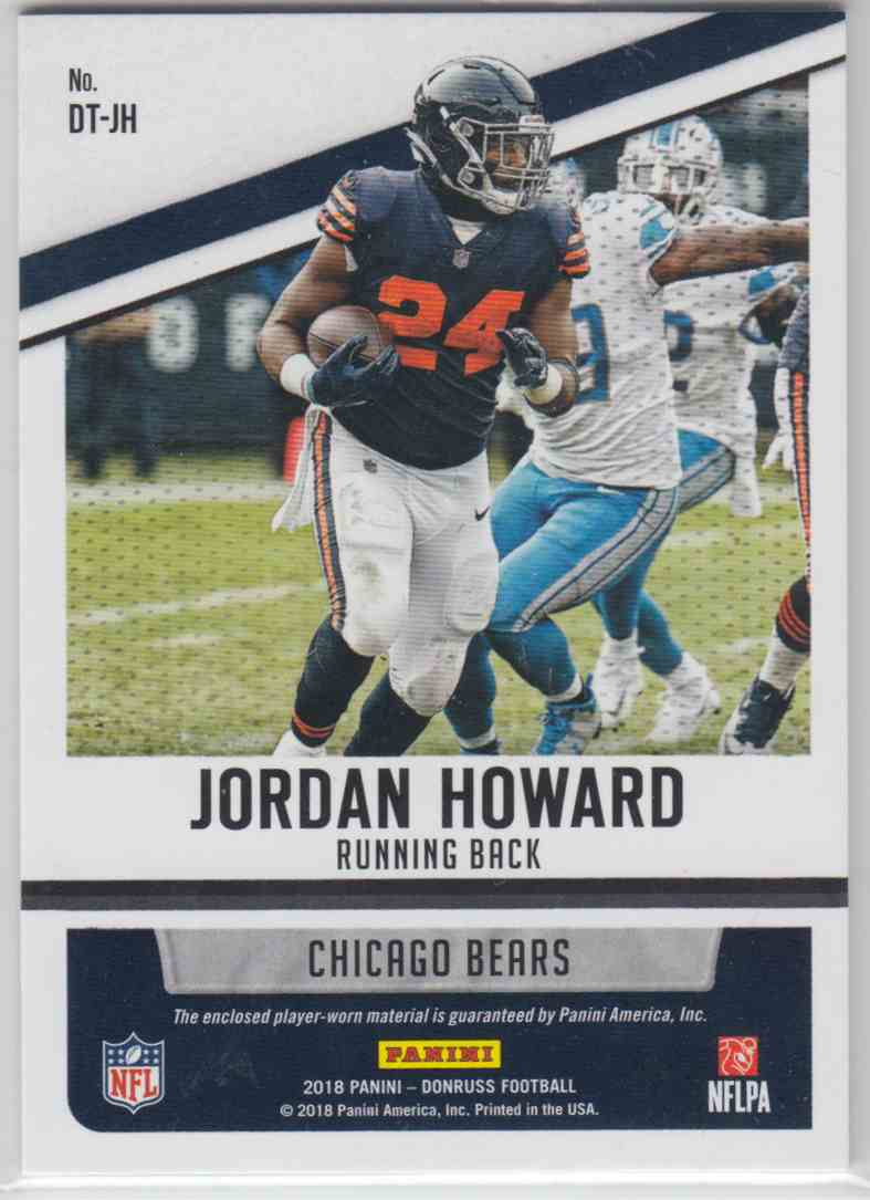 2018 Panini Donruss Donruss Threads Jordan Howard #DT-JH card back image
