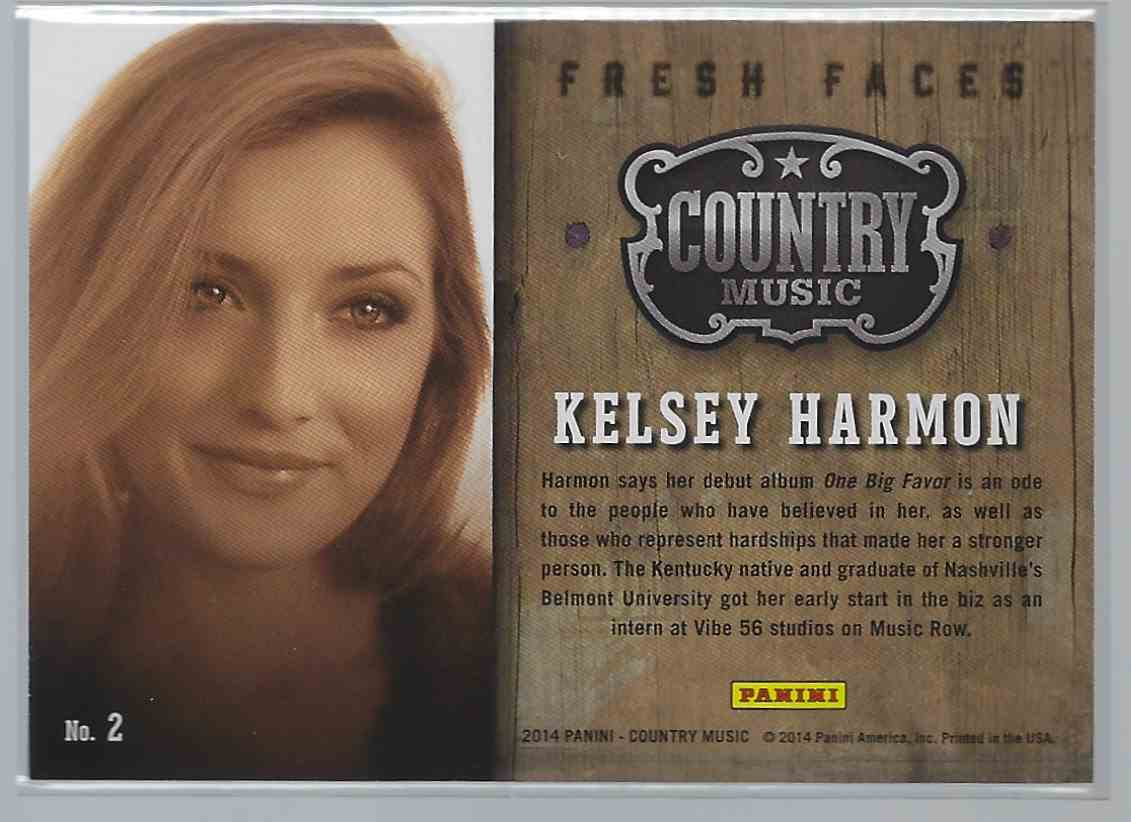 2015 Country Music Fresh Faces Purple Kelsey Harmon #2 card back image