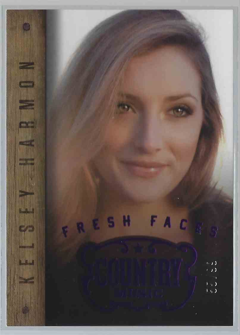 2015 Country Music Fresh Faces Purple Kelsey Harmon #2 card front image