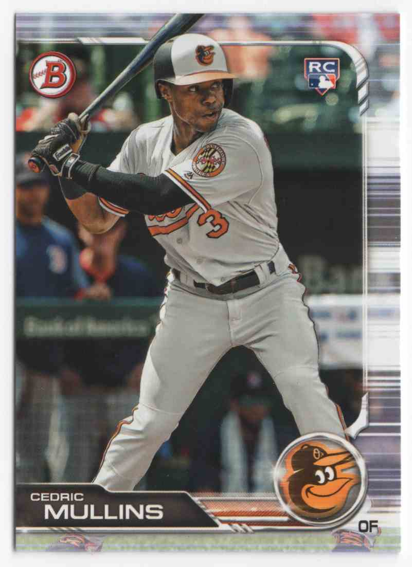 2019 Bowman Cedric Mullins #4 card front image