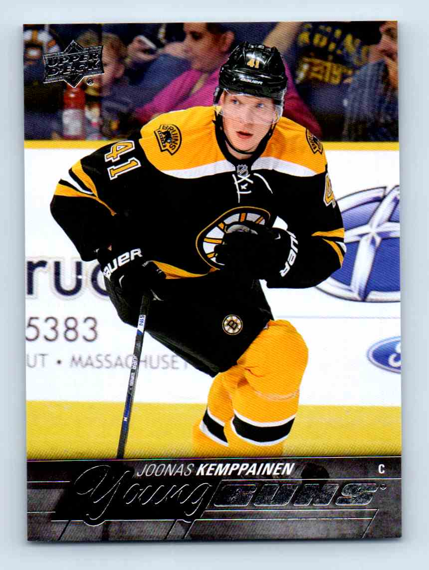2015-16 Upper Deck Young Guns Joonas Kemppainen #243 card front image