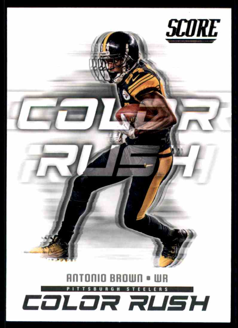 new concept a71af 15389 2018 Score Color Rush Antonio Brown #11 on Kronozio