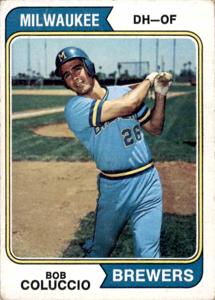 1974 Topps Bob Coluccio #124 card front image