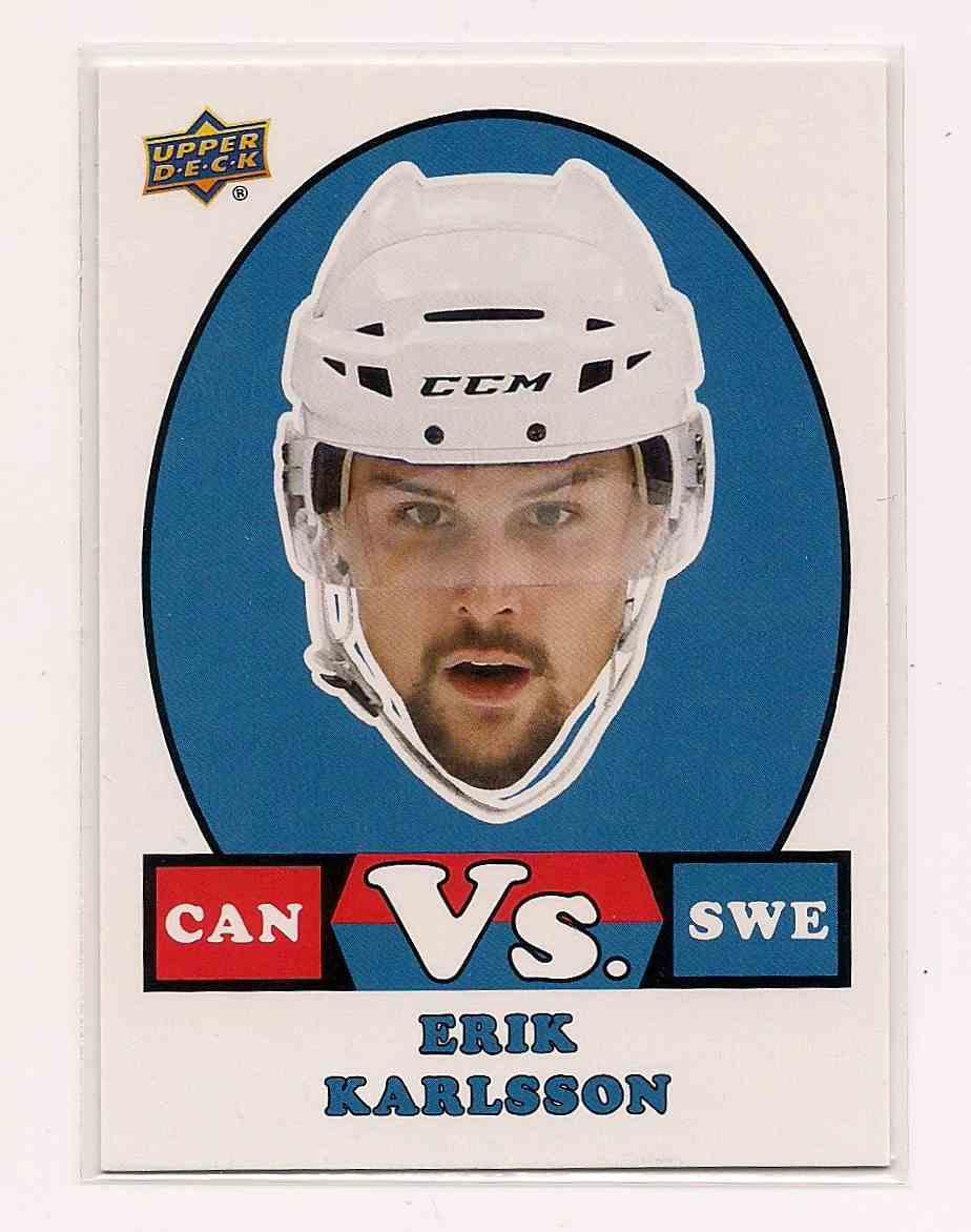 2017-18 Upper Deck Team Canada Vs. Erik Karlsson #VS-15 card front image