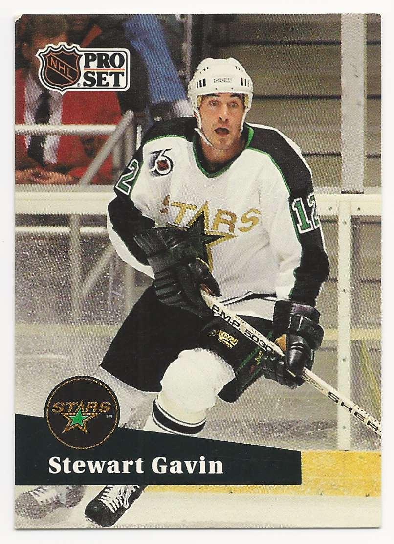 1991-92 Pro Set Stewart Gavin #404 card front image