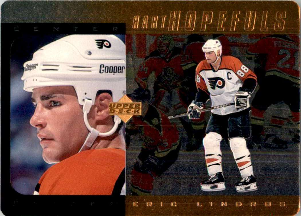 1996-97 Upper Deck Hart Hopefuls Bronze Eric Lindros #HH3 card front image