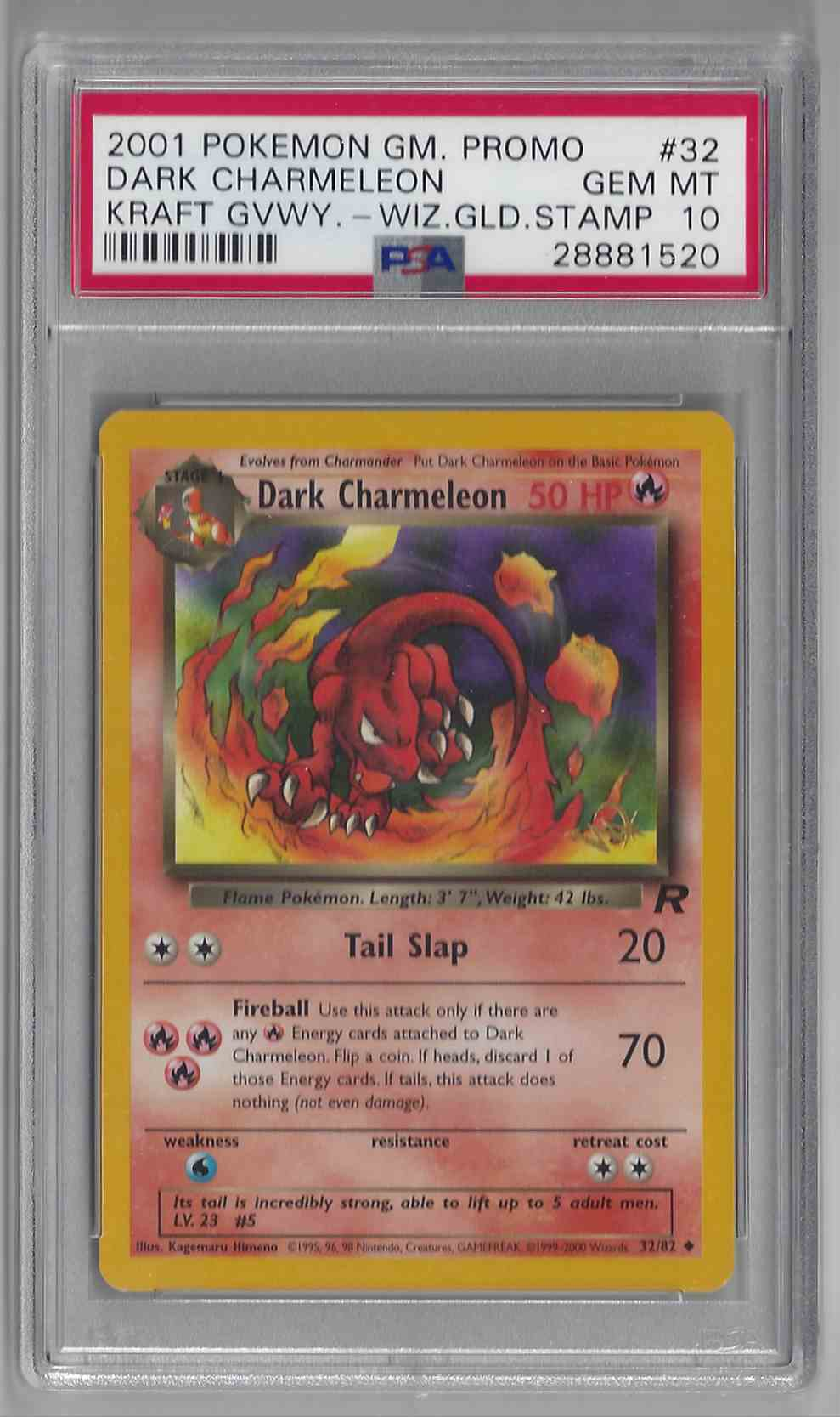 2001 Pokemon Gm Promo Rocket Dark Charmeleon #32 card front image