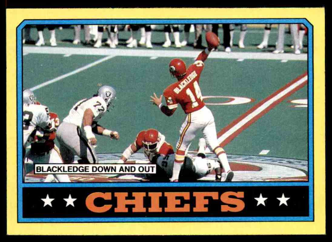 1986 Topps Todd Blackledge Kansas City Chiefs #303 card front image