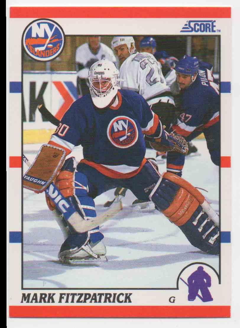 1990-91 Score Mark Fitzpatrick #102 card front image