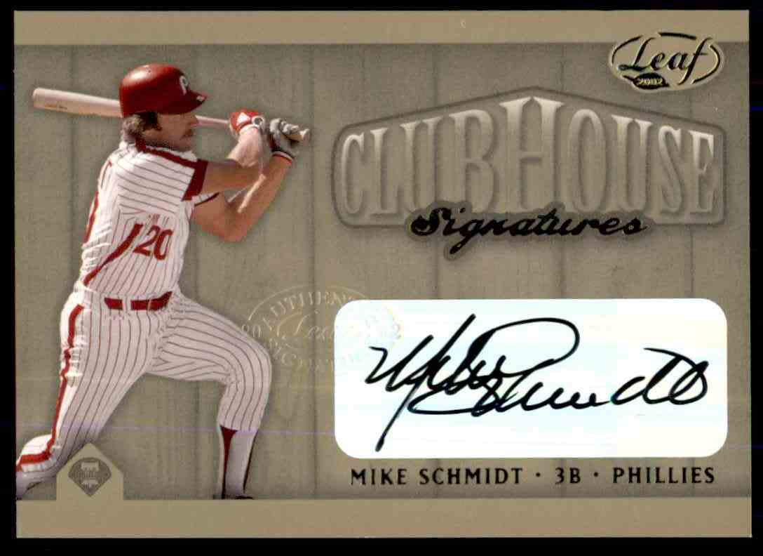 2003 Leaf Club Signatures Mike Schmidt Gold card front image