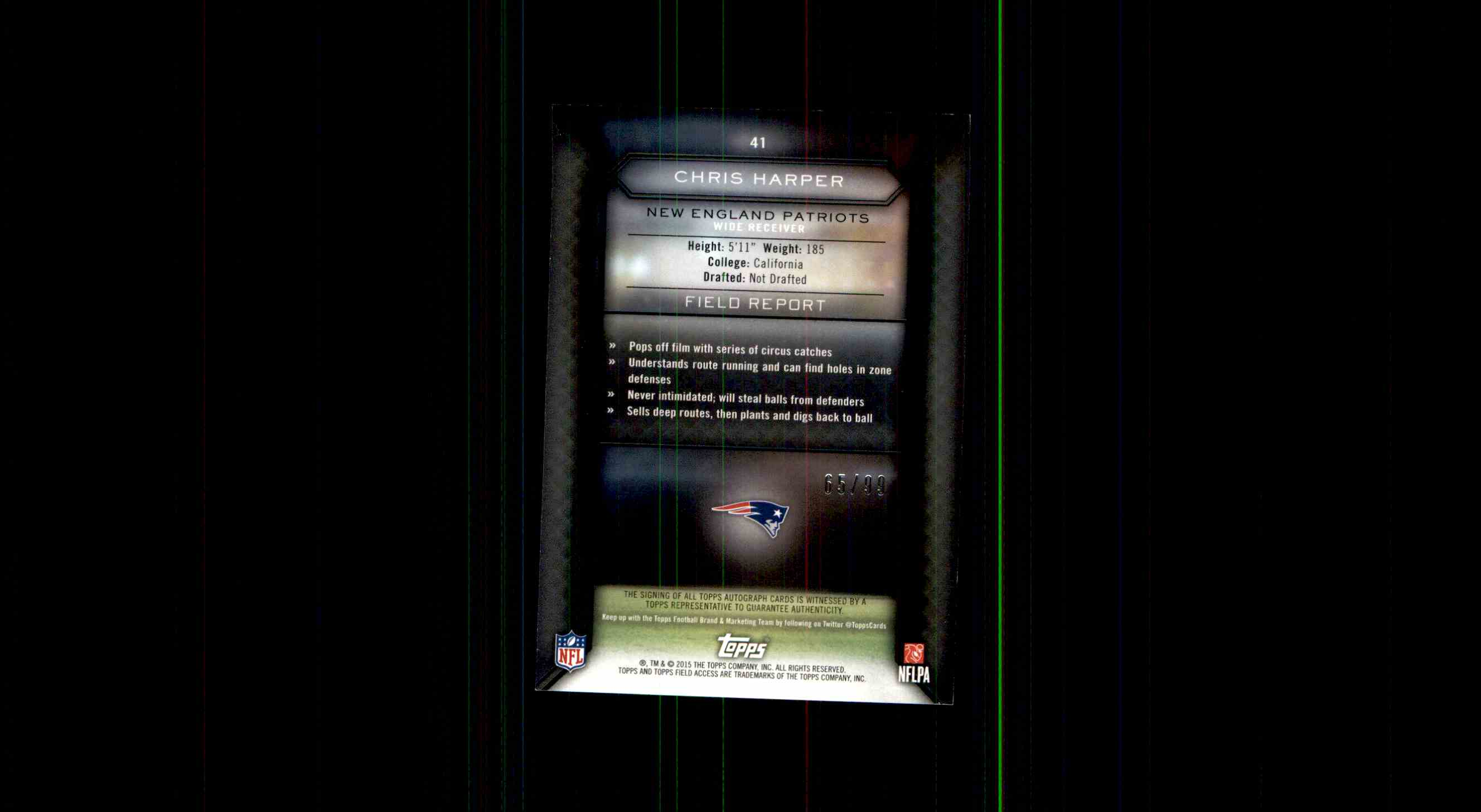 2015 Topps Field Access Chris Harper card back image