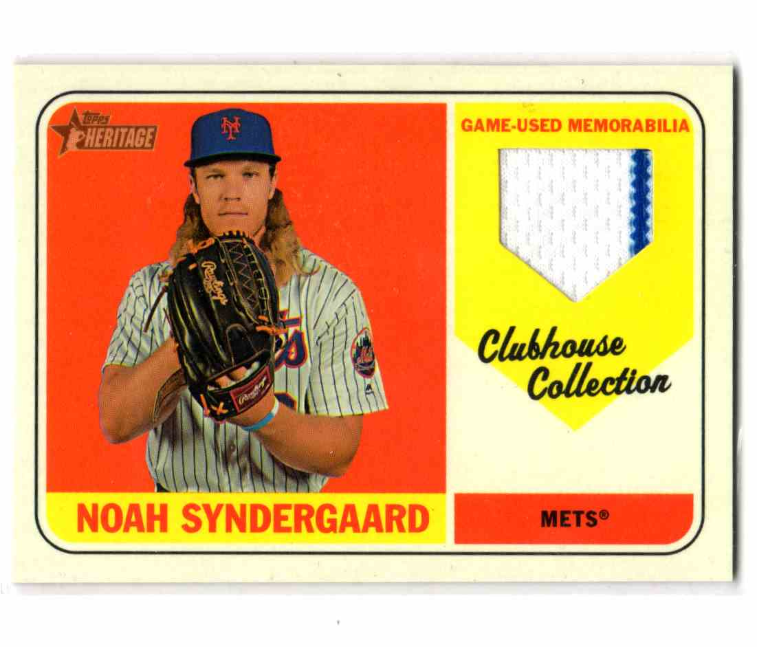 2018 Topps Heritage Clubhouse Collection Relics Noah Syndergaard #CCR-NS card front image