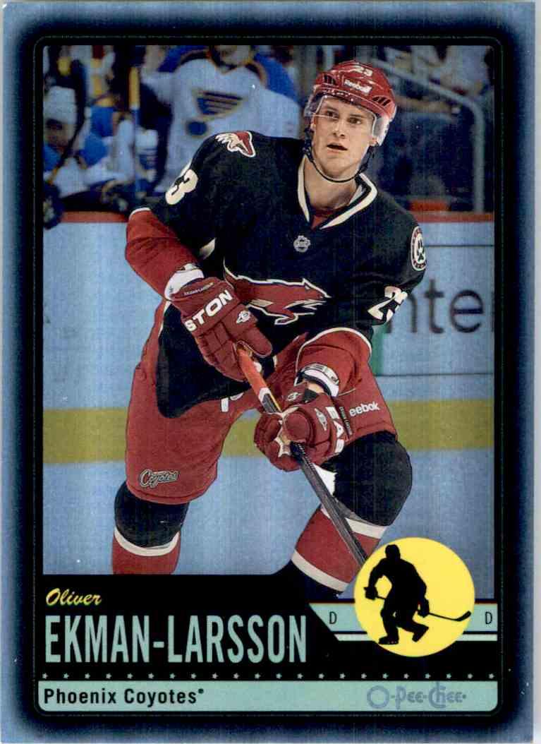 2012-13 O-Pee-Chee Black Rainbow Oliver Ekman-Larsson #17 card front image