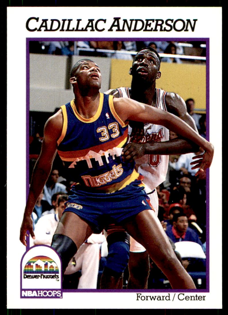 1991-92 Nba Hoops Cadillac Anderson #354 on Kronozio