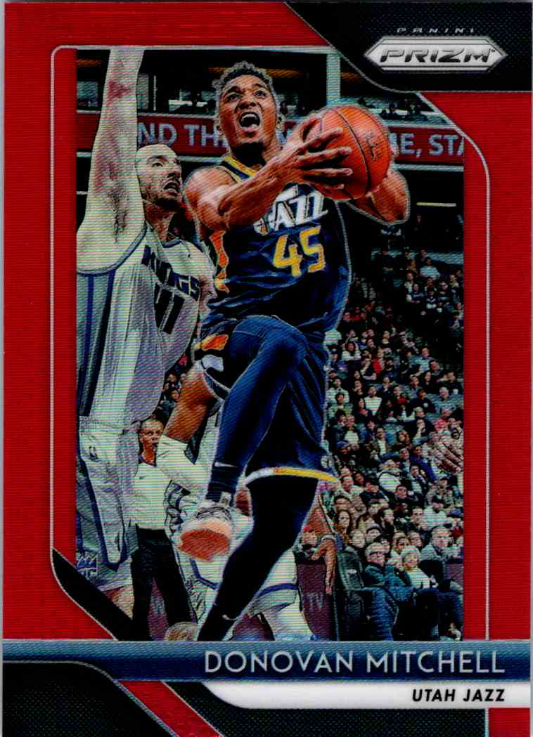 2018-19 Prizm Prizm Red Donovan Mitchell card front image