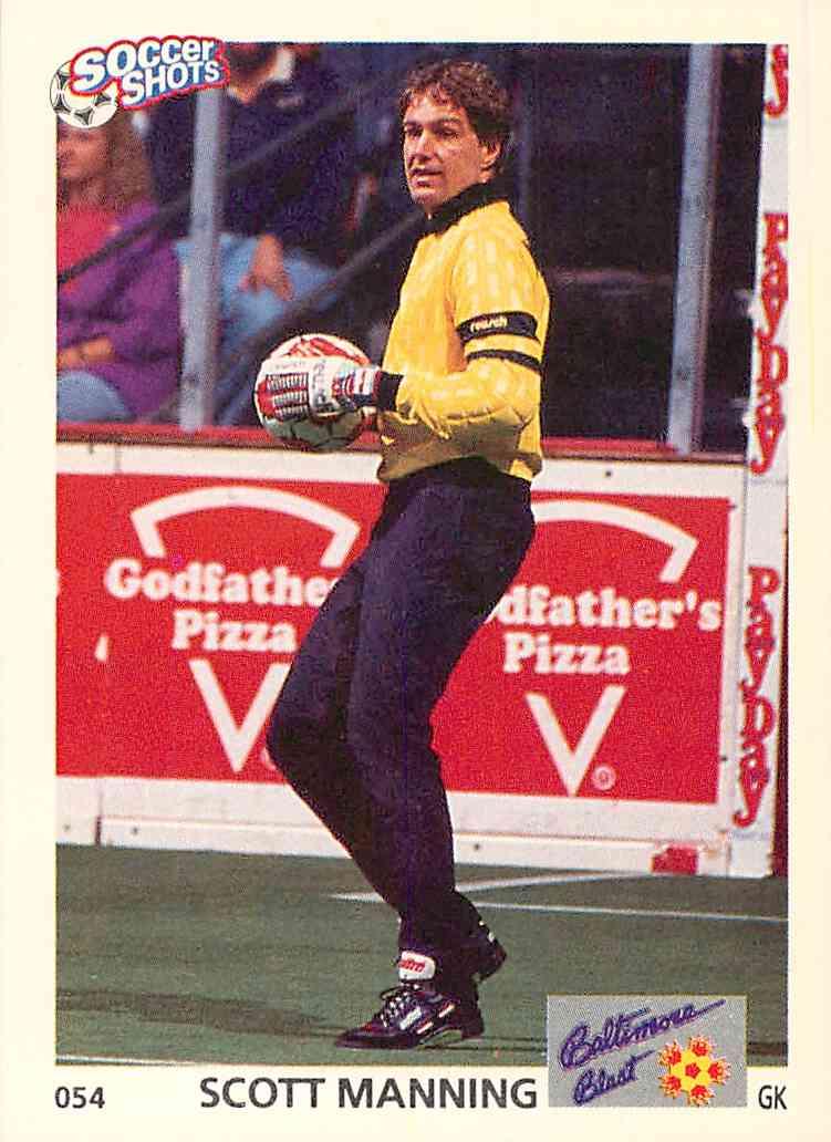1991 Soccer Shots Scott Manning #054 card front image
