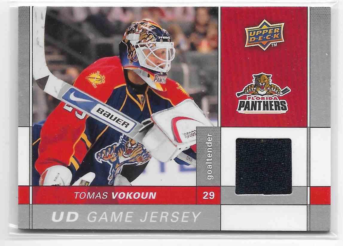 2009-10 Upper Deck Tomas Vokoun #GJ-VO card front image