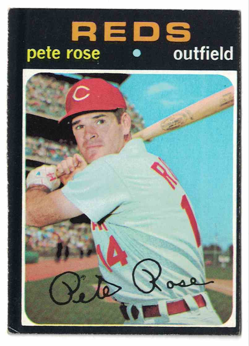 1971 Topps Pete Rose EX+ #100 card front image