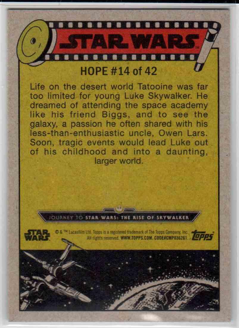 2019 Topps Star Wars Journey To Rise Of Skywalker Luke Skywalker's Ambitions #14 card back image