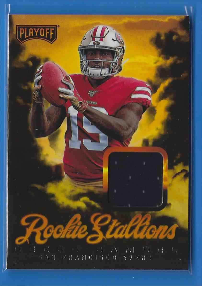 2019 Playoff Rookie Stallions Jerseys Deebo Samuel #RS-12 card front image
