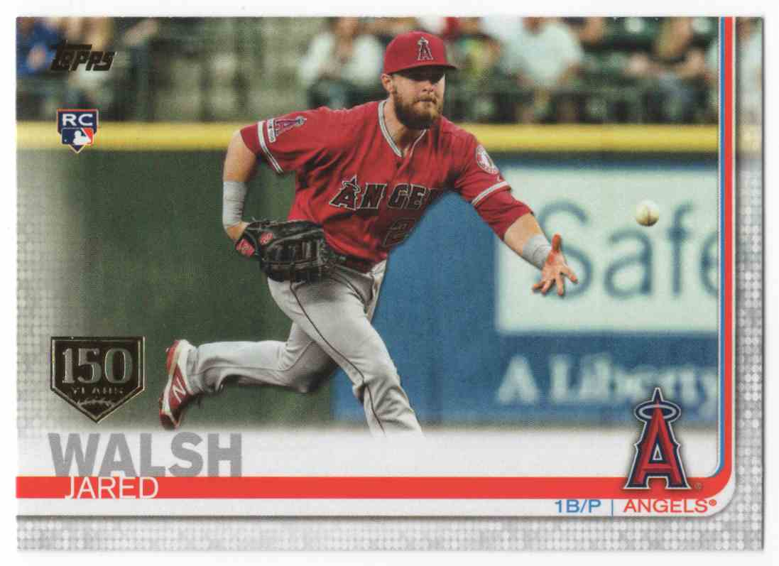 2019 Topps Update 150th Anniversary Jared Walsh #US59 card front image