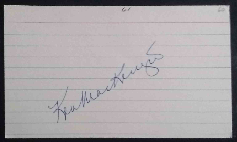1960 3X5 Ken MacKenzie card front image