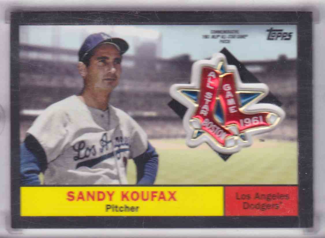 2018 Topps Series 2 Commemorative 1961 MLB Akk-Star Game Patch Black Sandy Koufax #ASP-SK card front image
