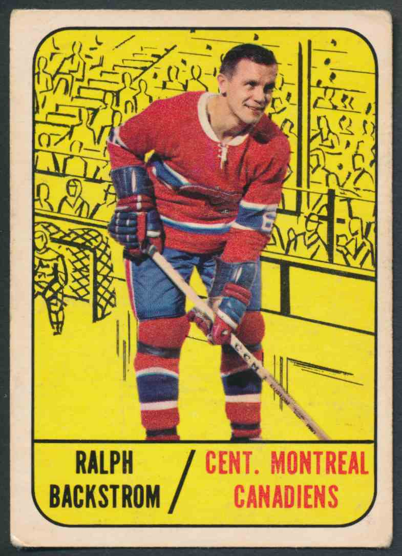 1967-68 Topps Ralph Backstrom - VgEx #67 card front image