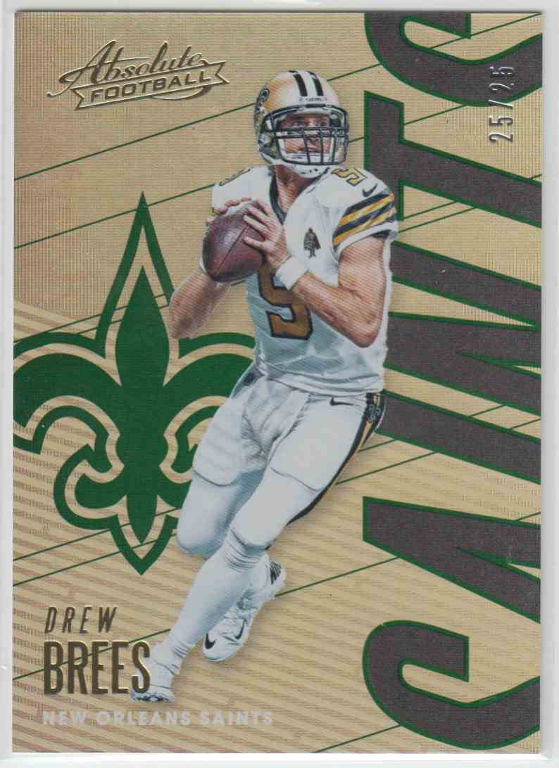 2018 Panini Absolute Spectrum Green Drew Brees #68 card front image