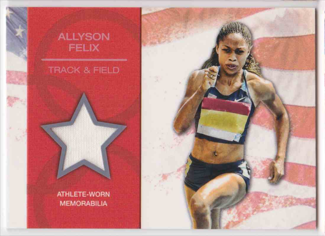 2012 Topps U.S. Olympic Team Relic Allyson Felix #OR-AF card front image