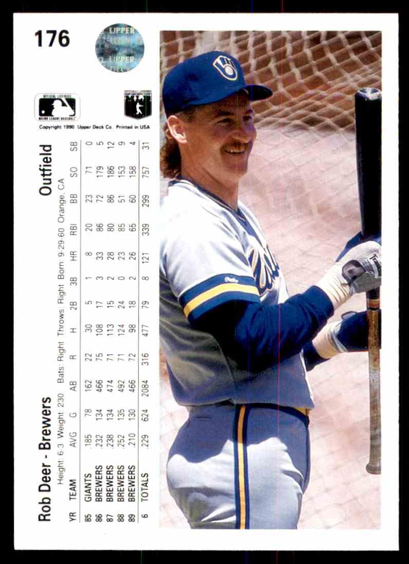 1990 Upper Deck Baseball Rob Deer 176 On Kronozio