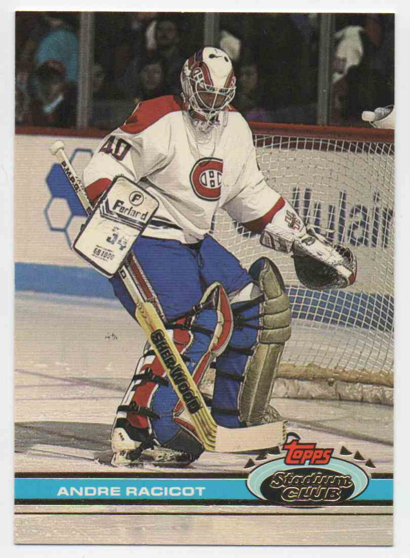 1991-92 Stadium Club Andre Racicot #377 card front image