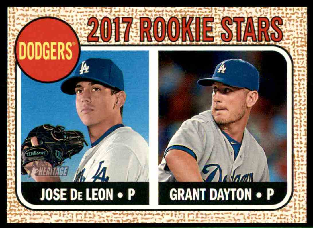2017 Topps Heritage Grant Dayton, Jose De Leon #83 card front image